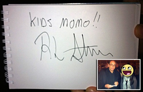 R.L. Stine's autograph for Kidsmomo