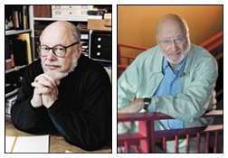 Norton Juster and Jules Feiffer (Photo from Publisher's Weekly)
