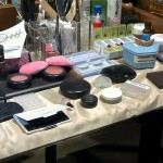 "We spy a box labeled ""Harry's Scar"" on the make-up table!"