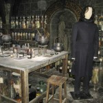 Snape guards over his potion ingredients.