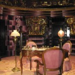 A closer look at Umbridge's pink-and-more-pink decorating scheme.