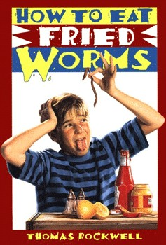I had to type this blog entry with one eye closed, so I wouldn't have to look at the worm on the book cover.