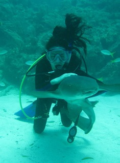 Karen and a Nurse Shark