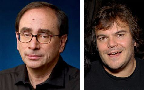 Left: Author R.L. Stine, Right: Actor Jack Black