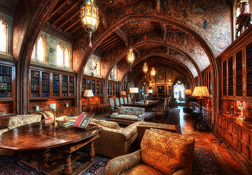 A Hearst Castle Library